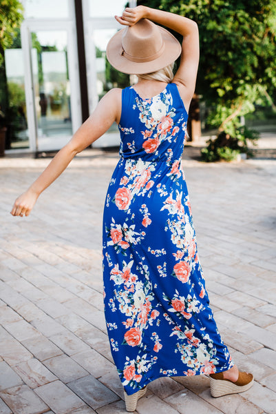 Dancing In The Meadows Maxi - Blue