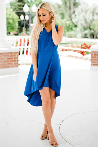 Bella Hi-Low Dress - Royal Blue