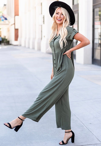 Chelse Casual Jumpsuit - Green