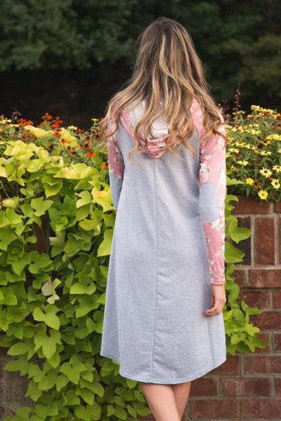Elbow Patch Raglan Dress