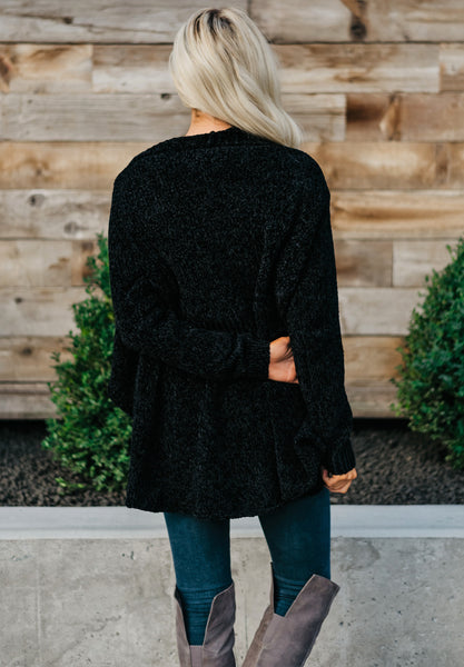Warm Wishes Cardigan - Black