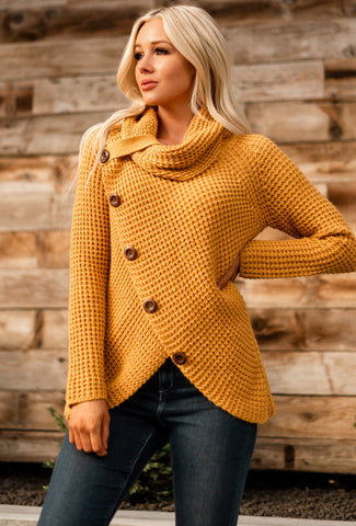 Cozy Up Turtle Neck Sweater - Mustard
