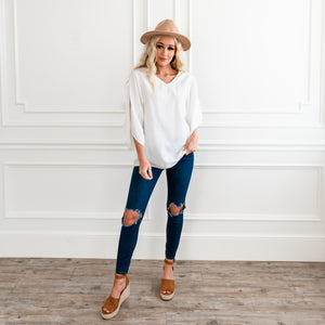 Sealed With A Bow Blouse - White