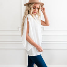 Load image into Gallery viewer, Sealed With A Bow Blouse - White