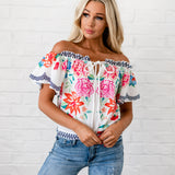 Lia Off The Shoulder Top - White