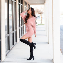 Load image into Gallery viewer, Charming Sweater Dress - Pink