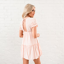 Load image into Gallery viewer, Ruffle Tiered Dress - Pink