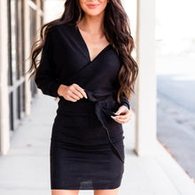 Load image into Gallery viewer, Charming Sweater Dress - Black