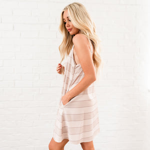 Summer Striped Tank Dress