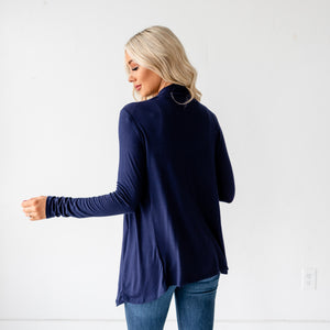 Lia Fall Cardigan - Navy
