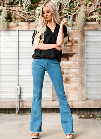 Dare To Flare Jeans - Blue Denim