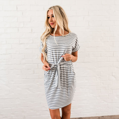 Tee Shirt Dress - Grey