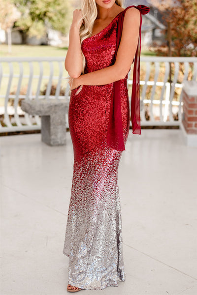 New Years Sequin Gown - Red