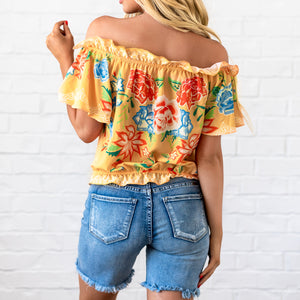 Off The Shoulder Top - Yellow