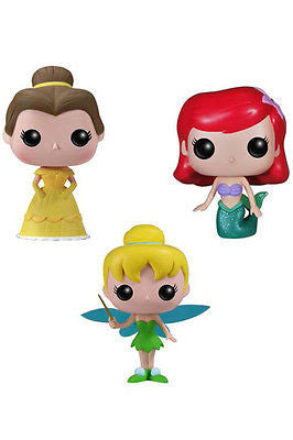 Disney Pocket POP! Vinyl Figure 3-Pack Tin Tinkerbell, Belle, Ariel 4 cm