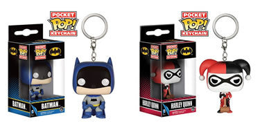 DC Comics POP! Vinyl Keychain Batman & Harley Quinn Set of 2 4 cm