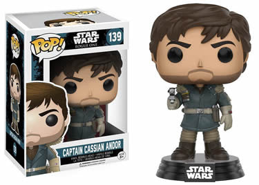 Star Wars Rogue One POP! Vinyl Bobble-Head Figure Captain 5 Cassian Andor 9 cm