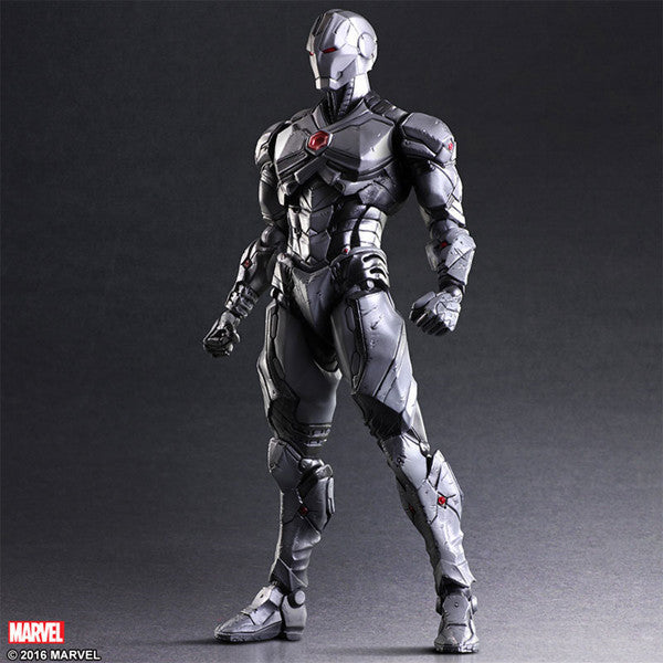 Play Arts KAI Iron Man Limited Grey Color PVC Action Figure Collectible Model Toys 26cm KT3312