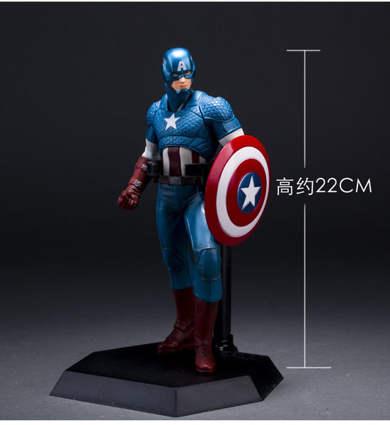 "Crazy Toys The Avengers Captain America PVC Action Figure Collection Model Toy 19"" 22cm  KT1933"