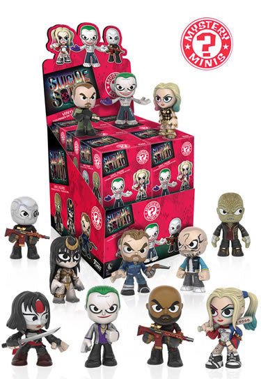 Suicide Squad Mystery Mini Figures 6 cm Funko Movie Memorabilia