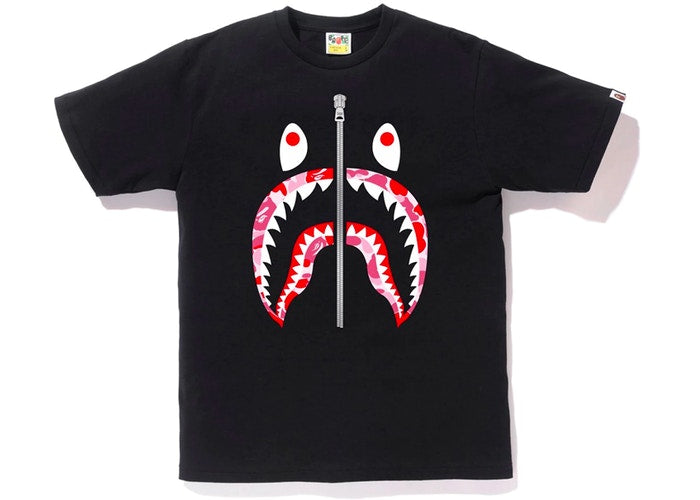 ABC Camo Shark Tee Black/Pink Silver Zipper