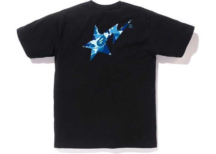 Bapesta Tshirt ABC Blue Camo / Black