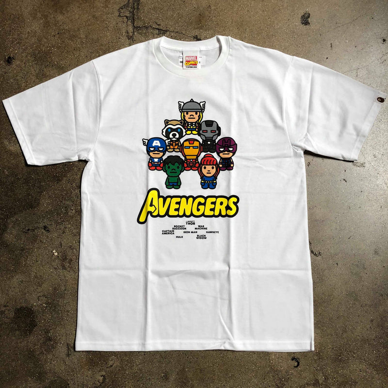 Bape x Marvel Comics Avengers Tee White - Exhibit A
