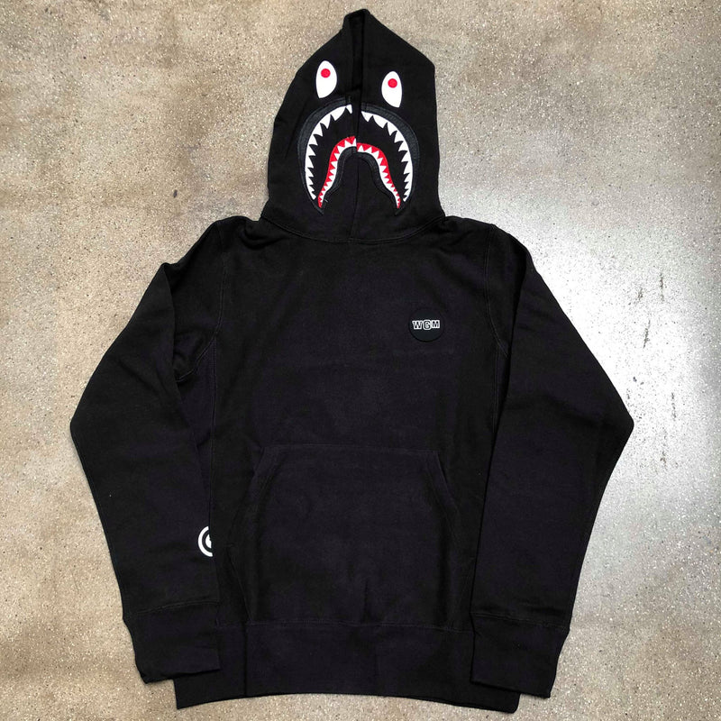 Shark Patch Pullover Hoodie Black - Exhibit A