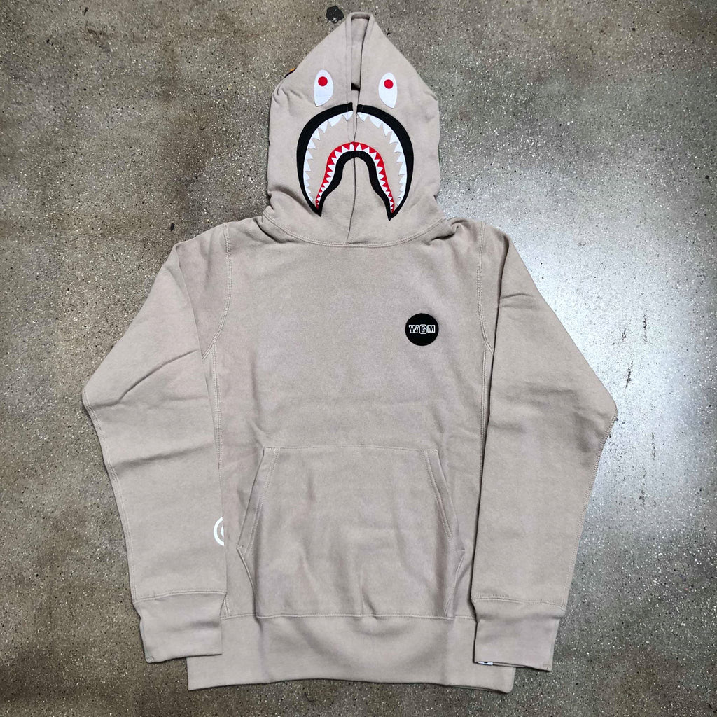 Shark Patch Pullover Hoodie Tan - Exhibit A