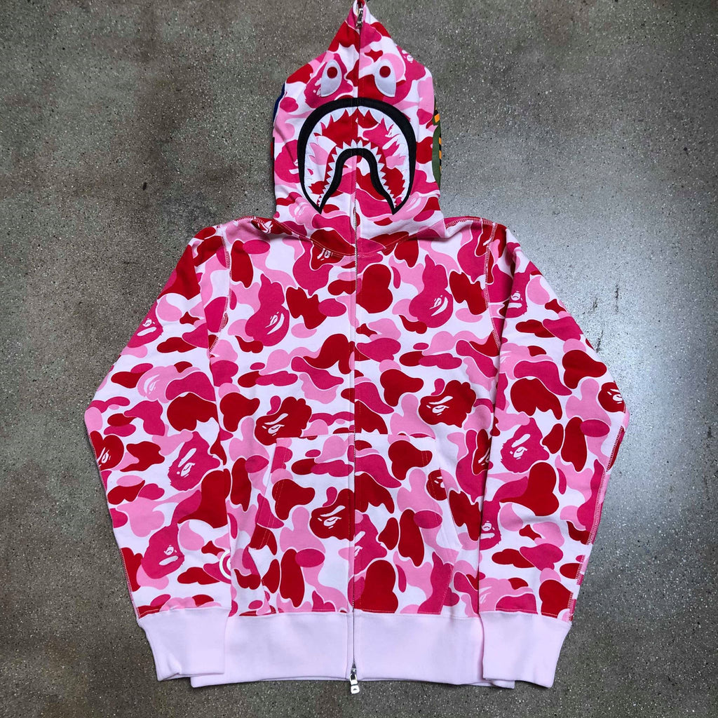ABC Camo Shark Hoodie Pink - Exhibit A