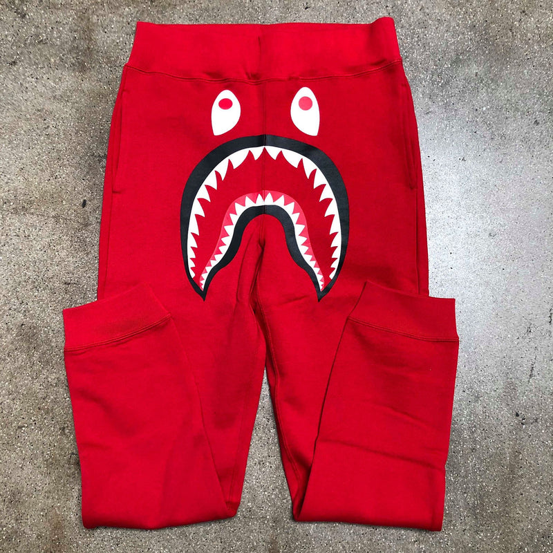 Bape Shark Slim Sweatpants Camo Pocket Red Red - Exhibit A