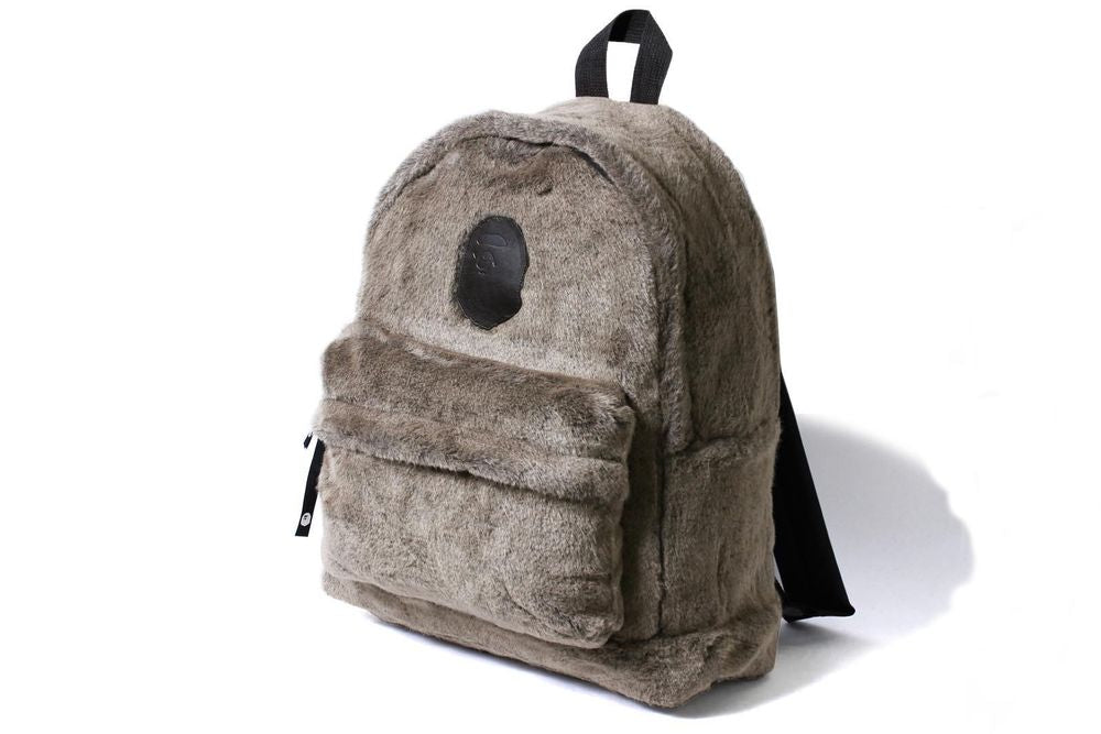 Fur Backpack Gray