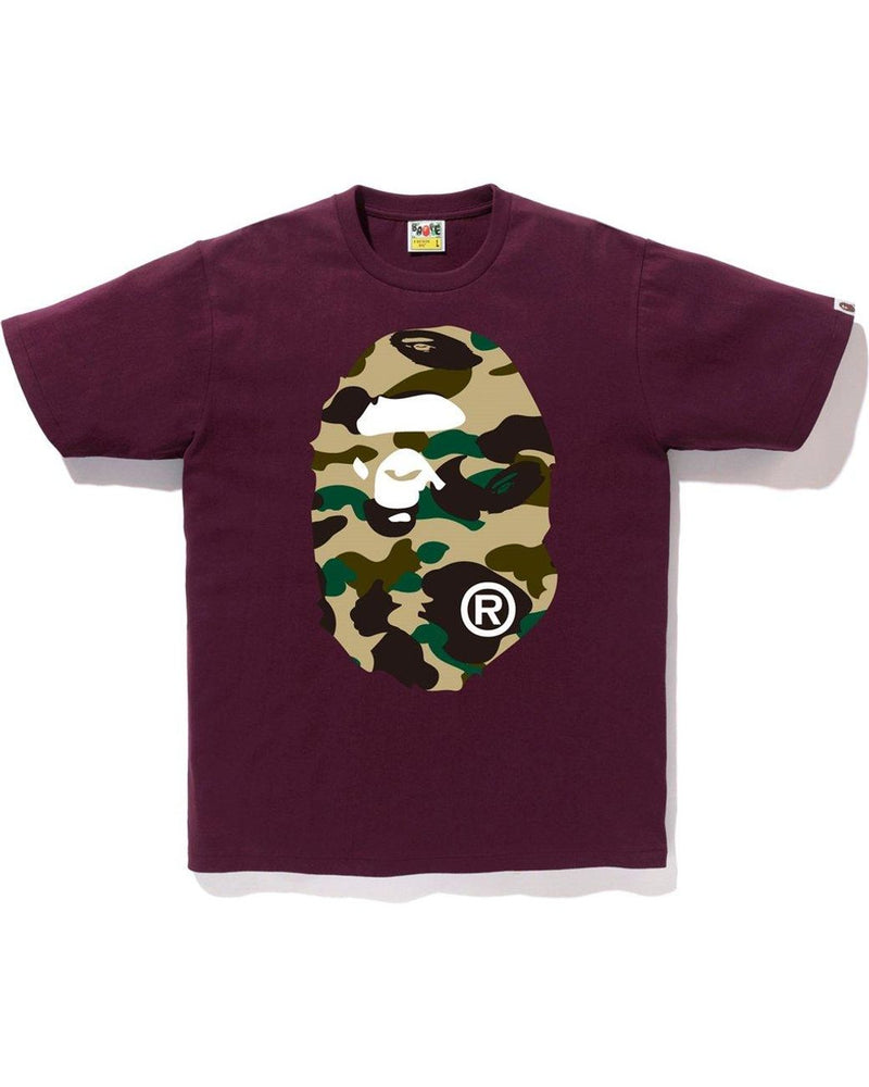 Ape Head Tshirt 1st Camo Yellow | Burgundy