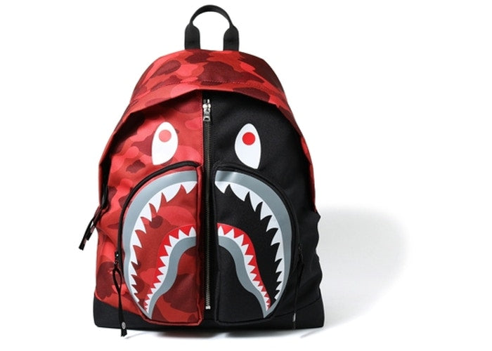 Shark Red Camo Backpack