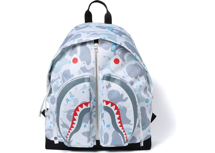 Shark Space Camo Backpack White
