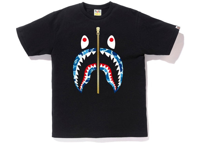ABC Camo Shark Tee Black/Blue Gold Zipper