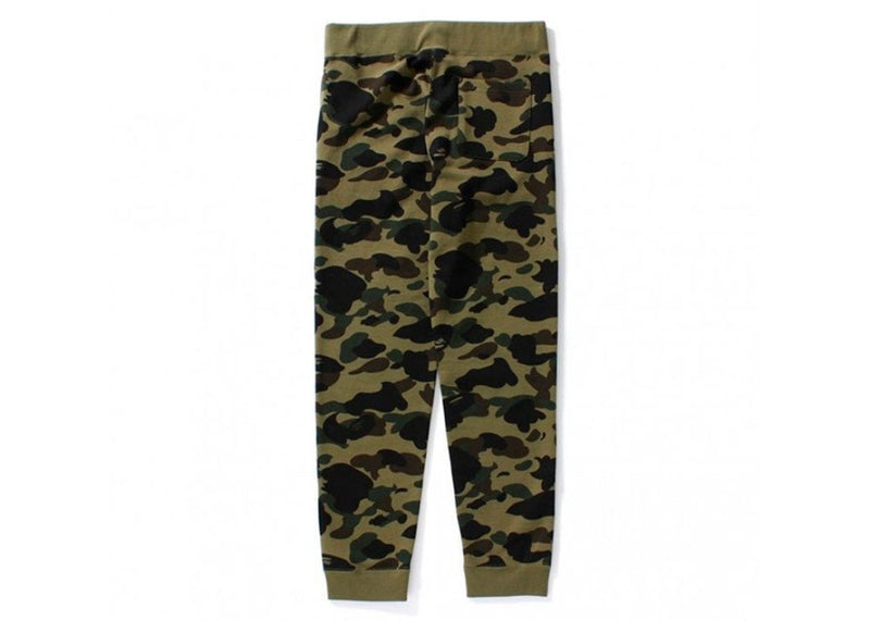A Bathing Ape Slim Sweatpants 1st Camo Green