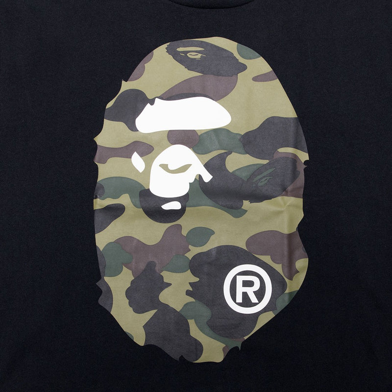 Ape Head Tshirt 1st Camo Green | Black
