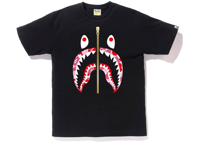 ABC Camo Shark Tee Black/Pink Gold Zipper