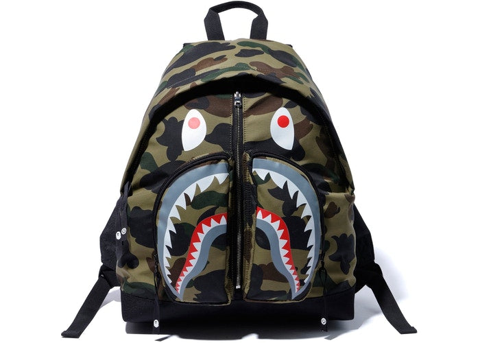 Bape 1st Camo Green Shark Backpack