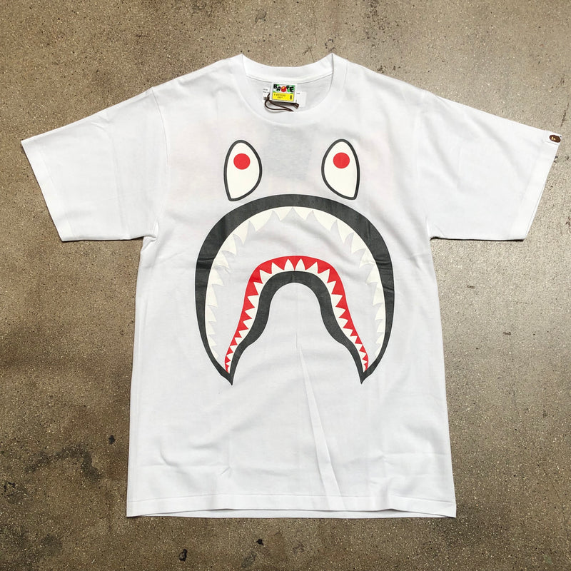 Bape Big Shark PONR Tee White/Black - Exhibit A