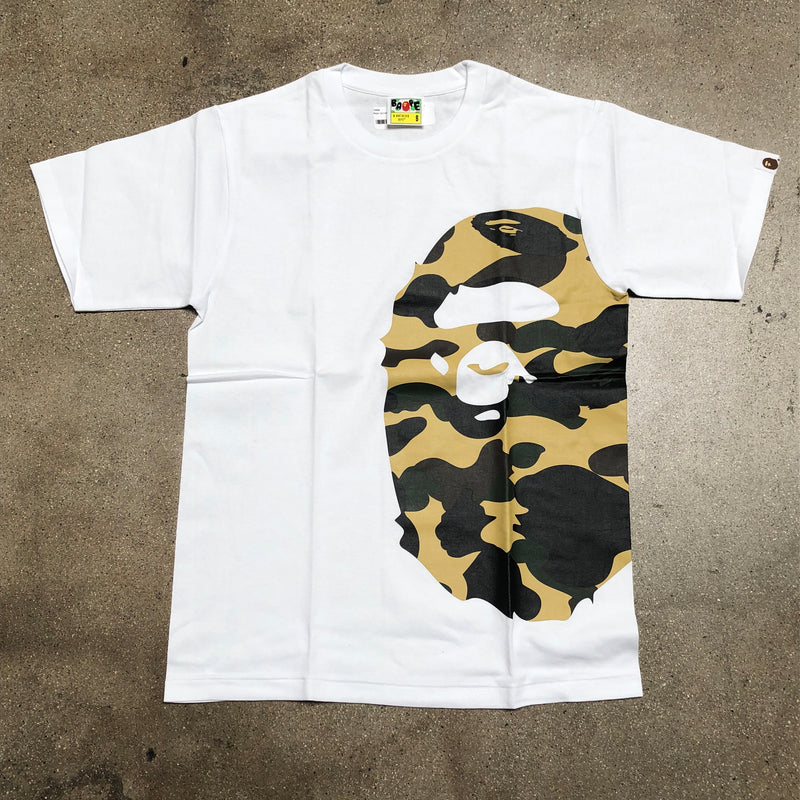 Bape 1st Camo Side Ape Head Tee White/Yellow - Exhibit A