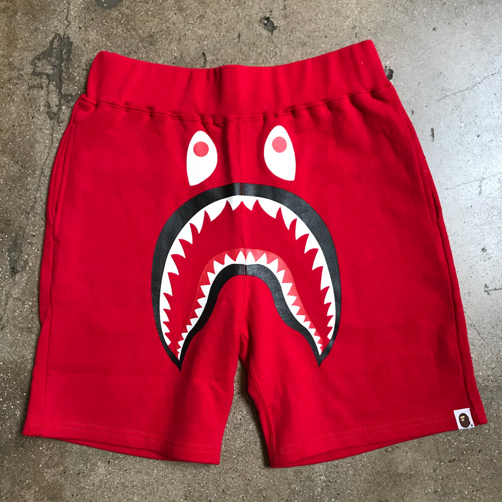 Bape 1st Camo Back Pocket Shark Shorts Red - Exhibit A