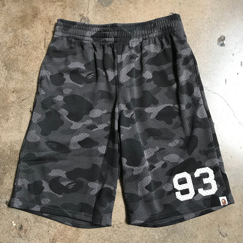 Bape 93 Color Camo Basketball Shorts Black - Exhibit A