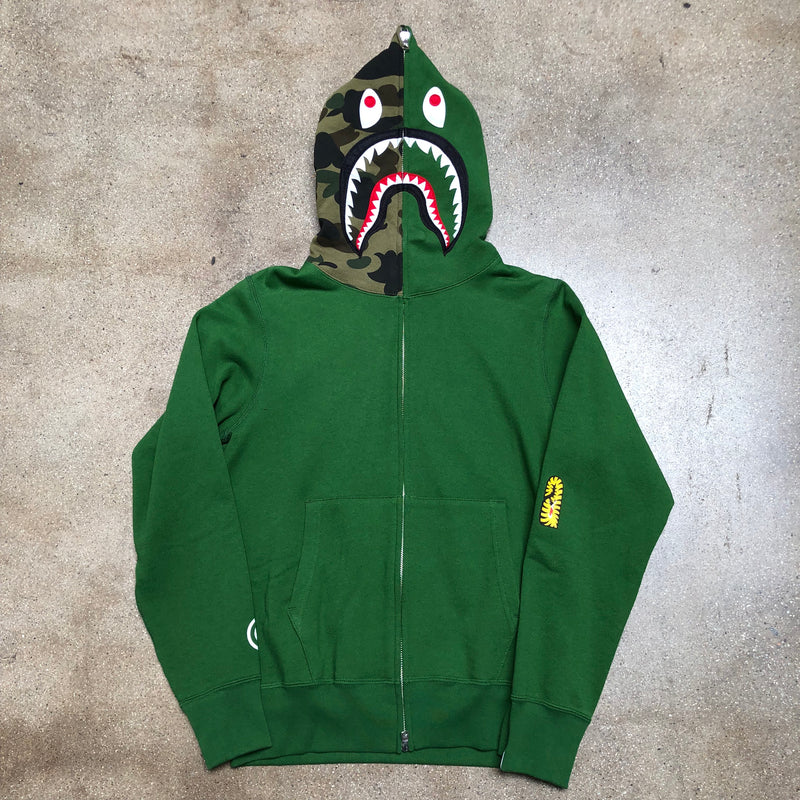 Bape PONR Shark Hoodie Green - Exhibit A