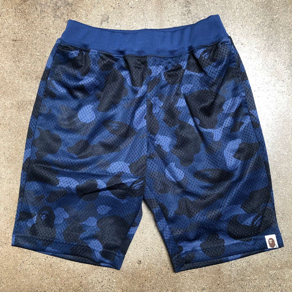 Bape Color Camo Basketball Shorts Blue - Exhibit A