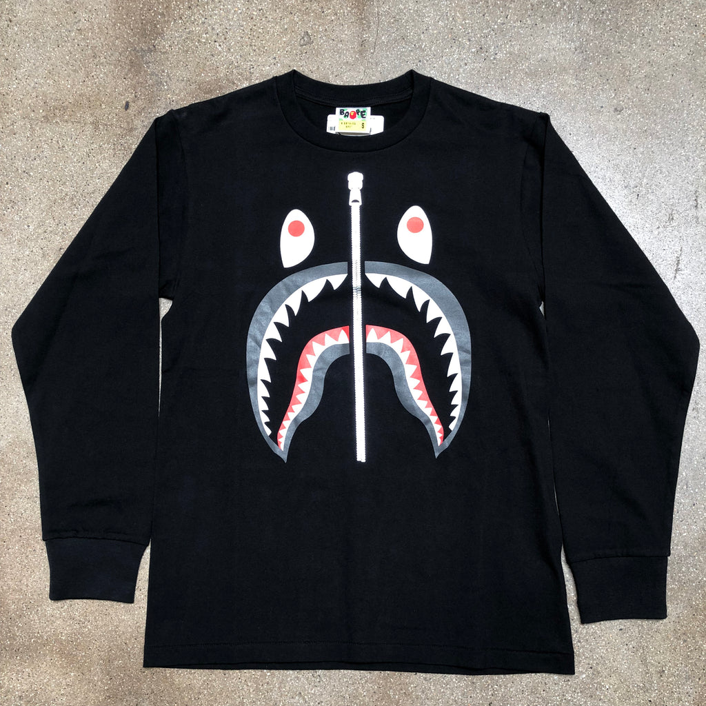 Bape Shark Long Sleeve Black