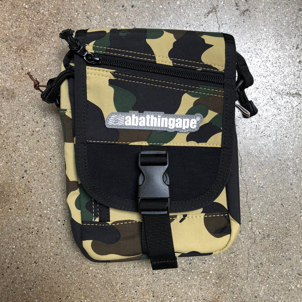1st Camo Buckle Shoulder Bag Yellow - Exhibit A