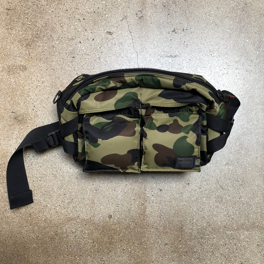 Bape x Porter 1st Camo Waist Bag Green - Exhibit A