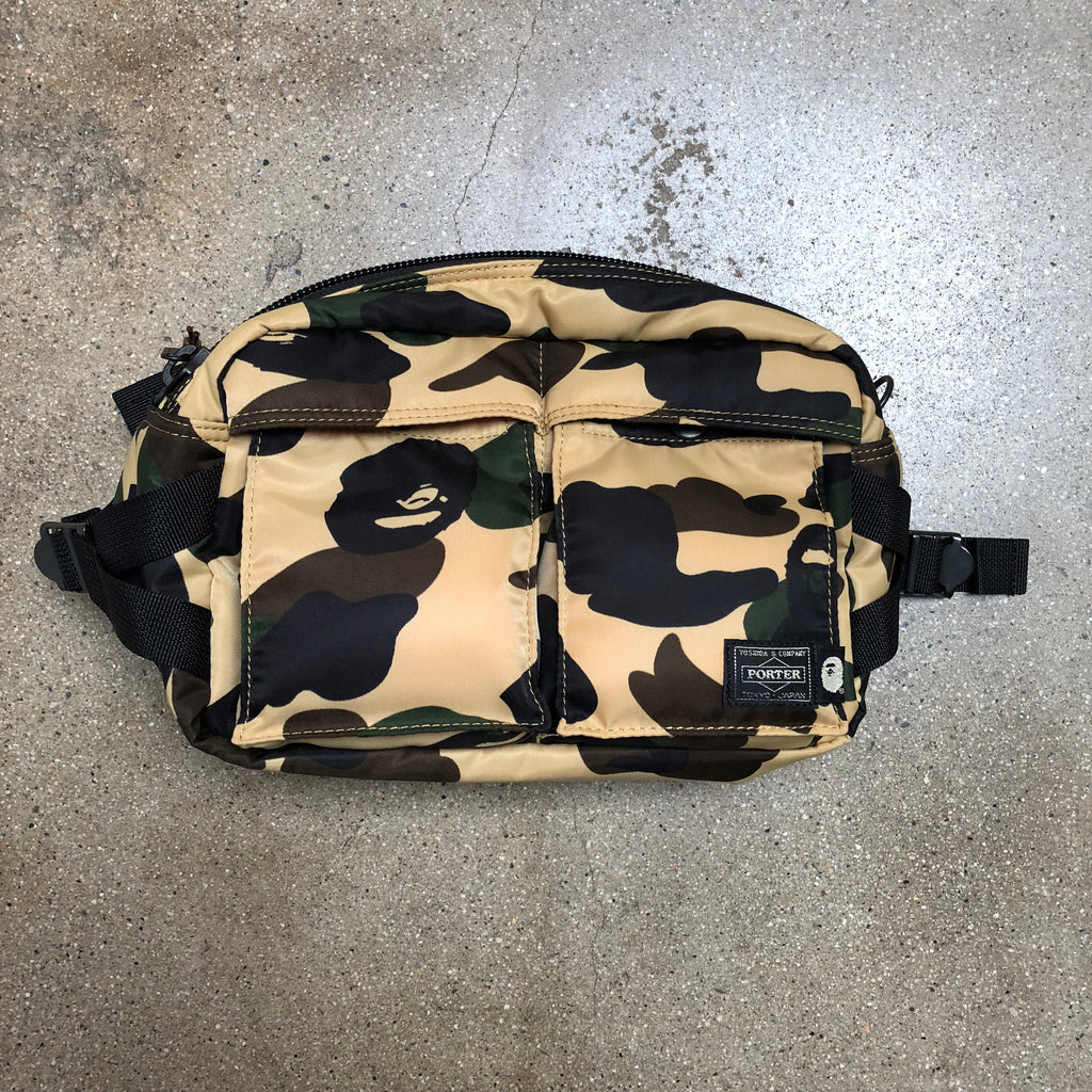 Bape x Porter 1st Camo Waist Bag Yellow - Exhibit A
